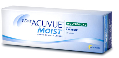 1-Day Acuvue Moist Multifocal contact lenses by Johnson & Johnson