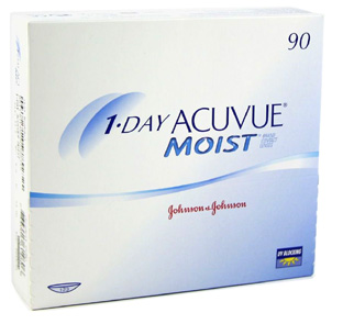 1 Day Acuvue Moist contact lenses by Johnson & Johnson