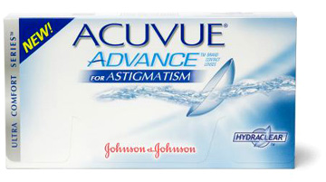 Acuvue Advance for Astigmatism contact lenses by Johnson & Johnson