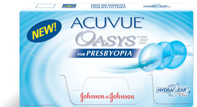 Acuvue Oasys For Presbyopia contact lenses by Johnson & Johnson