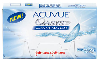 Acuvue Oasys for Astigmatism contact lenses by Johnson & Johnson