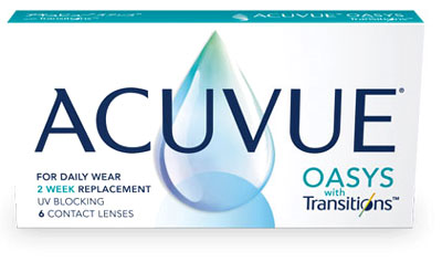 Acuvue Oasys with Transitions contact lenses by Johnson & Johnson