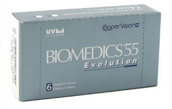 Biomedics 55 Evolution contact lenses by Coopervision