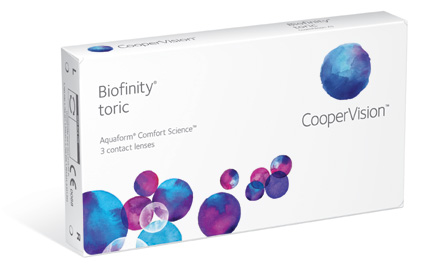 Biofinity Toric contact lenses by Coopervision