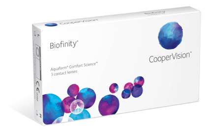 Biofinity contact lenses by Coopervision