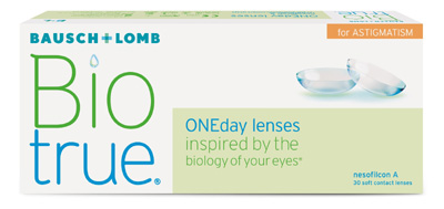 Biotrue ONEday for Astigmatism contact lenses by Bausch & Lomb