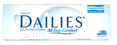 Focus Dailies Progressives contact lenses by CIBA Vision