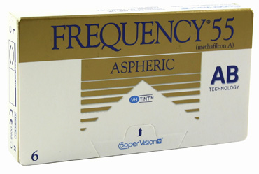 Frequency 55 Aspheric contact lenses by Coopervision