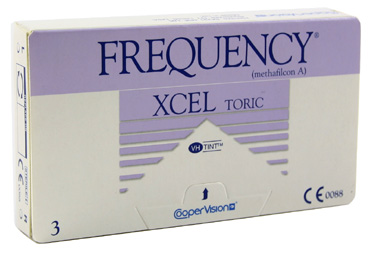 Frequency XCEL Toric contact lenses by Coopervision