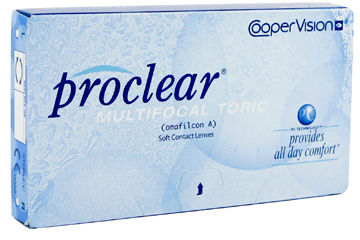 Proclear Multifocal Toric contact lenses by Coopervision