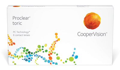Proclear Toric contact lenses by Coopervision