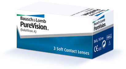 Purevision contact lenses by Bausch & Lomb
